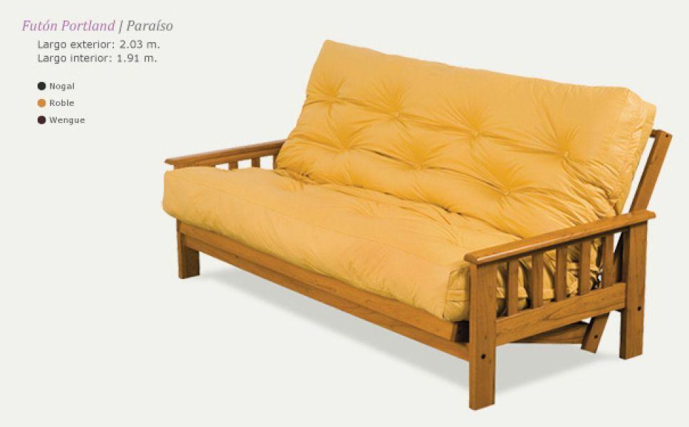 Wenceslao muebles futones y sillones cama for Futon cama de una plaza